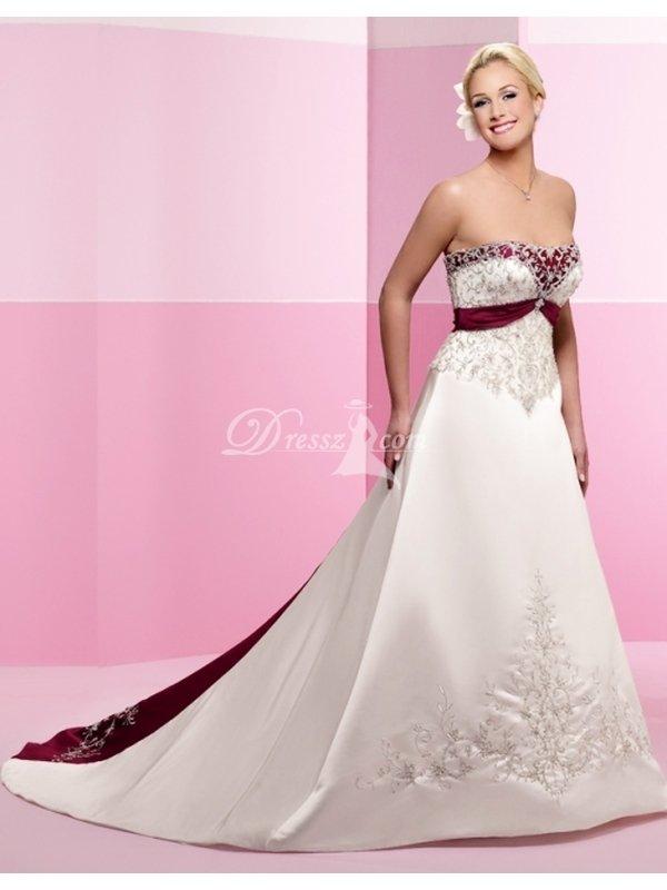 Ivory And Burgundy Wedding Dresses 99