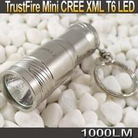 Trustfire 1000 Lumens mini portable Key chain CREE XM-L T6 LED Flashlight Torch+ 16340/Cr123 battery+Charger