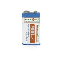 Factory direct sales! Limit sales!  Etinesan 9v 900mAh Rechargeable 9 Volt Li-Ion Lithium Battery