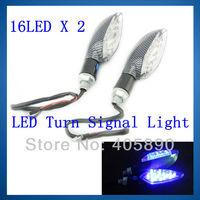 16LED X 2 Motorcycle LED Turn Signal Light Universal Motorcycle Indicator Light