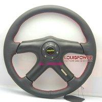 Wholesale 14 inch MOMO Pure Leather Racing Steering Wheel   360mm Universal 5140