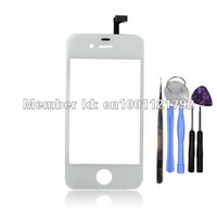 Free Shipping For iPhone 4 4G LCD White Touch Screen Digitizer + iPhone REPAIR KIT TOOLS