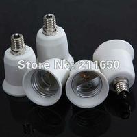 Free shipping,E12 to E27 LED  Candelabra Light Bulb Lamp Socket Enlarger Adapter NEW
