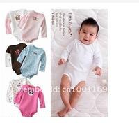 Promotion! 1piece Baby Boy&Girl's Bodysuit Long Sleeve Carter's Bodysuits Junior Bodysuits Tagless Trickle-free Infant Wear