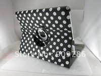 Polka Dots design cute leather case cover stander holder for ipad 2  ipad 3 with Auto sleep function. Free shipping 40pcs/lot