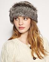high quality New Cute Natural Rabbit Fur Ring Scarf Rabbit Fur Headwear Fur Headband 10 Colors Instock