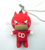100% Real 4GB 8GB 16GB 32GB 3D Daredevil USB 2.0 Flash Memory Stick Pen Drive Thumb Mobile U Disk Storage Device,Free Shipping