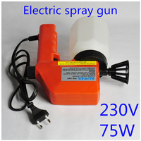 Freeshipping 230V 75W Paint sprayer gun MINI Paint zoom with 600ML Capacity Only EU Plug