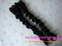 "6Pieces Color 1# Length 14""-18"" Blended (50% Human Hair&50% Heat Resistant Fiber) French Twist Curl Hair Weave Extension"