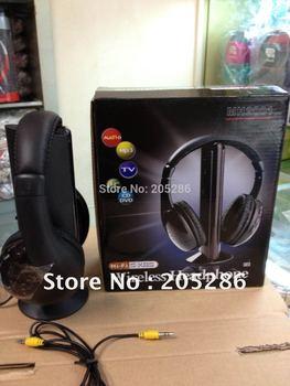 Promotion 1pcs 5 in 1 HIFI Wireless headphone Earphone Headset wireless Monitor FM radio for MP4 PC TV audio  2015 New