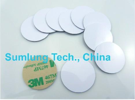 Free shipping(10pcs)125Khz Rfid ID Stickers/Tags PVC Waterproof EM/TK 4100 smart cards(China (Mainland))