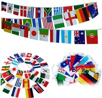 Free Shipping 2012 Olympic Games String flag 100pcs size8  21*14CM Country flags string National flags