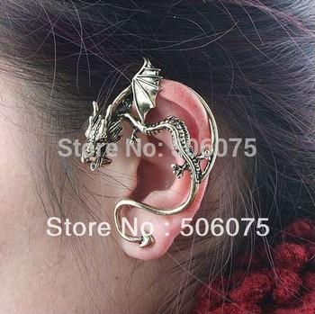 Min Order $10 Fashion Jewelry Women Antique Dragon Stud Earring Fit Left Earring