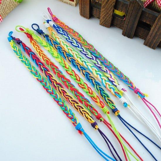 Weave rope string small beads friendship bracelets handmade charm/Strand bracelets(China (Mainland))