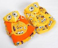 2012 NEW! SpongeBob pet warm clothes, cotton pet hoodie,free shipping,TCY-053
