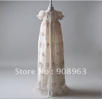 Dupioni Silk In Ivory Gwyneth Christening Gown Set