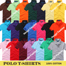 top sale simple polo shrits colored S M L XL XXL bulk t shirts wholesale retails cheap hot fashions loose shirt black blue(China (Mainland))
