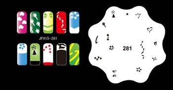 1 set - Nail Airbrush Stencils - Set No.15 - Nail Stencils / Templates - Nail Art / Printing -20pcs stencils/set- Free Shipping