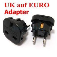 UK 3-Pin to Euro 2-Pin Mains Adapter Black England UK to EU Euro Travel Plug Adapter AC Power Steckeradapter, 500pcs/lot
