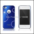 Gold bling cover case with Swarovski Crystal for Apple iphone 4 4s (Blue) Free Shipping SI302