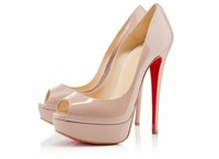 2012 ladies peep high heel shoes womens patent leather wedding platform pumps high heels 14cm