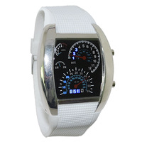 1pc/lot new arrival sports style aviation watch,high quality PU leather band,led digital movement,6colors band freeshipping