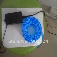 flashing neon  blue el wire 5mm diameter 10m with driver inverter