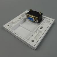 Combine Wall Plate: VGA+3.5 Audio+Dual RJ45+AV Wall Plate