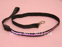 Free shipping 120cm Black Band LED Dog leash Flashing Dog leads 8 colors 30PCS/Lot