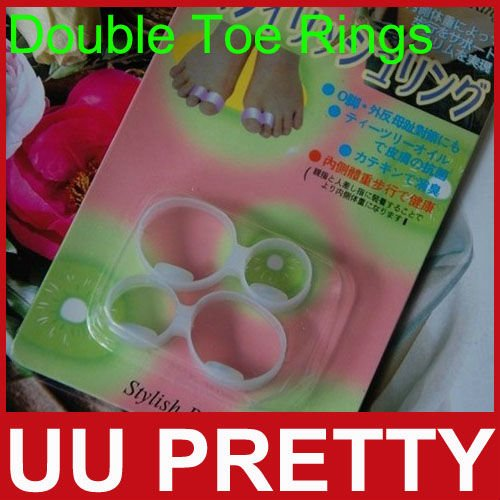 Newest Magnetic Silicon Diet Weight Loss Slimming Spa Massage Foot Double Toe Rings Ultra Popular Fitness 1Pack=2Pieces(China (Mainland))