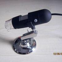 USB Digital Microscope 0.3mp color sensor up to 220x 8 built-in LED lights