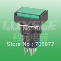 16MM push button switch   (flush head)   6pin alternate   rectangular    DPDT