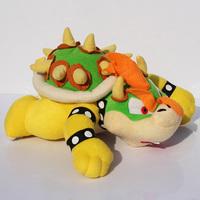"Super Mario Bowser plush toy 10"" Koopa Bowser dragon plush doll  Mario Brothers Toys Free Shipping Retail"