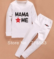New autumn Papa mama love me Baby Long Sleeve suit,baby clothes, baby suit ,8set/lot