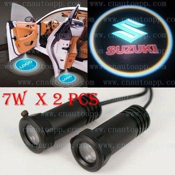Suzuki Mark Car LED Emblem Light Door Welcome Light  Step Ground Projecting Lamp For Swift / SX4 /Splash /Grand Vitara  etc