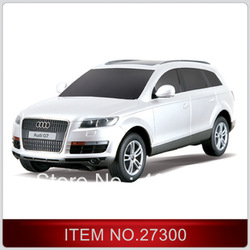 Free shipping 1:24 Audi Q7 charging remote control race car simulation models rc car electric for kids gift White/black/silver(China (Mainland))