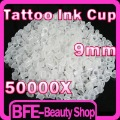 Holiday Sale 50000x 9mm High Quality White Plastic Tattoo Color Cups Tattoo Ink Holder Cup Tattoo Accessories Free EMS(China (Mainland))