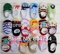 Free shipping 200pairs/ lot  Anti-skid Baby Socks / Infant 100% Cotton Sock / cartoon baby socks / non-slip socks