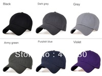 Hot sales Solid color 6 panels baseball cap cotton sport cap plain washed cotton cap 8pcs/lot  Free shipping