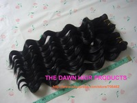 """5Pieces/Lot Color 1# Length 14"""" Mixed (50% Human Hair&50% Heat Resistant Fiber) Deep Wave Curly Hair Weave"""