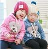 5 pcs/lot Top quality baby girls/boys cartoon bear hoodies 2 colors kid spring/autumn sweatshirts child cotton clothes wholesale