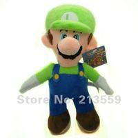 """Free Shipping New Super Mario Bros. Stand LUIGI Plush Doll Stuffed Toy 8.5"""" Retail"""