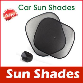 2 X Foldable Side Window Screen Mesh Sun Shades for Car