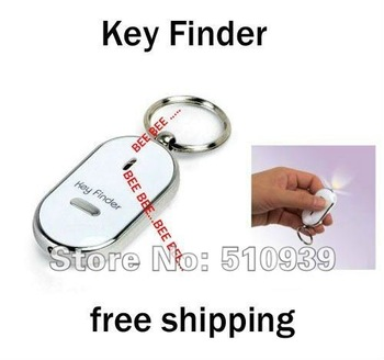 Wholesales! Keyfinder Sound Control Whistle Locator Key Finder with keychain,free dropshipping 5pcs/lot ! !