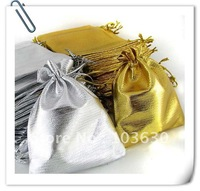 10x12cm Gold and silver Jewelry Bag Jewelry pouch/drawstring bag gift poch(BZD-006)Free shipping!!!