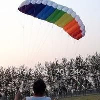 "New 1.4M(55"") Dual Line Parafoil Kite,Rainbow 2 line sport kite+2*30m line,Suit for beginner LK002"