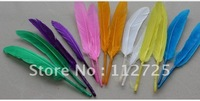 Free Shipping Wholesale 1000pcs / lot 10-15cm Pink Goose Feathers traight  Goose feather geese feather