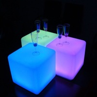 super quality 40*40*40cm LED Stool for bar, nightclub, disco