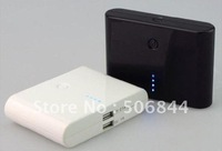 Free shipping 12000mAH dual USB pack Power Bank Universal External Battery for iPhone4  4s iPad Mobile