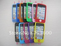 DHL Free Shipping Silicon Case For Ipod Touch 4, Smart Bean Soft Silicon Back Case for Apple Ipod  Touch4